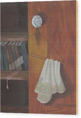 Wood Print featuring the painting Odd Friends by Tony Caviston