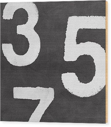 Odd Numbers Wood Print