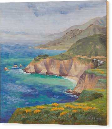 Ode To Big Sur Wood Print by Karin  Leonard