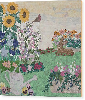 Ode To Henry And Joys Of Nature Wood Print by Denise Hoag
