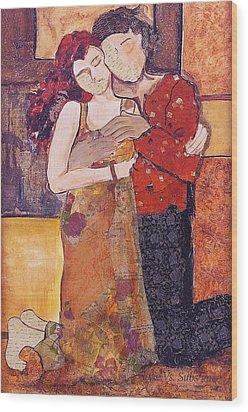 Ode To Klimt Wood Print by Debi Starr