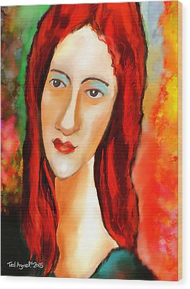 Ode To Modigliani Wood Print by Ted Azriel