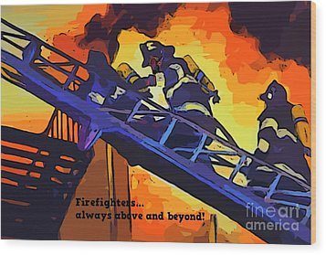 Ode To Our Heros Wood Print by John Malone