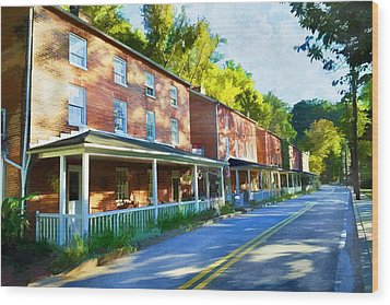 Wood Print featuring the photograph Oella Avenue by Dana Sohr