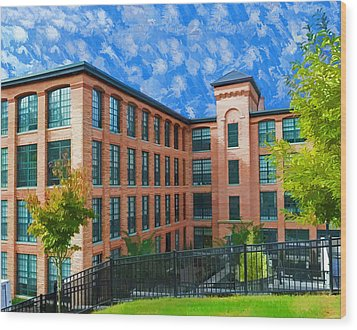 Wood Print featuring the photograph Oella Mill by Dana Sohr