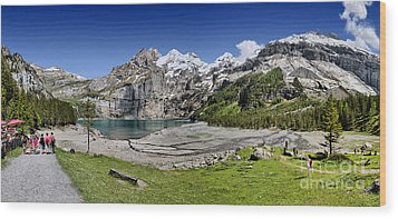 Oeschinen Lake Wood Print by Carsten Reisinger