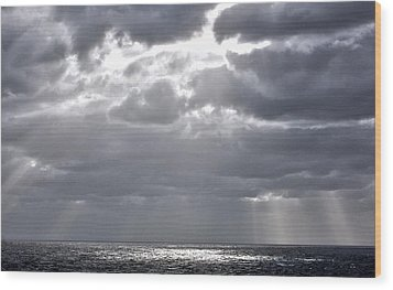 of Clouds and Sun. Wood Print by Allen Carroll