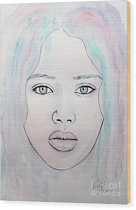 Wood Print featuring the mixed media Of Colour And Beauty - Blue by Malinda Prudhomme