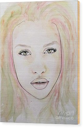 Wood Print featuring the mixed media Of Colour And Beauty - Pink by Malinda Prudhomme