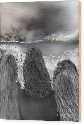 Of The Sea Wood Print by Rc Rcd