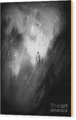 Wood Print featuring the painting Off He Goes by Christine Ricker Brandt