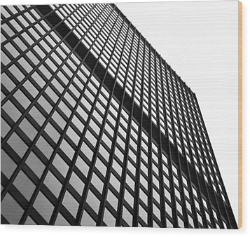 Office Building Facade Wood Print by Valentino Visentini