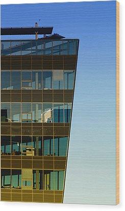 Office Wood Print by Kent Mathiesen