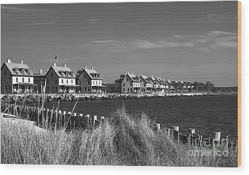 Wood Print featuring the photograph Officers Row - Sandy Hook by Vicki DeVico