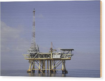 Wood Print featuring the photograph Offshore Gas Platform by Bradford Martin