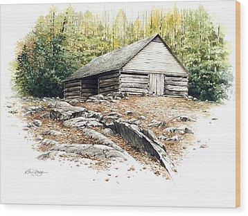 Ogle Barn - 1880 Wood Print by Bob  George