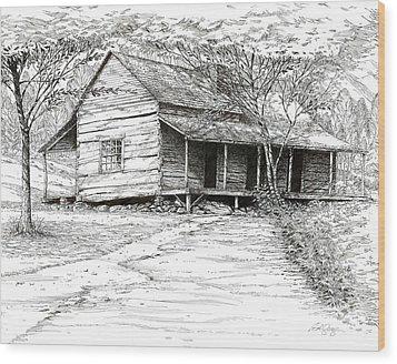 Ogle's Back Porch Wood Print