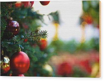 Oh Christmas Tree Wood Print by JM Photography