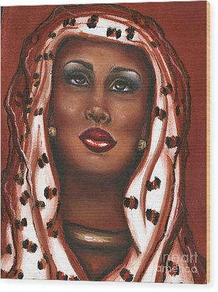 Wood Print featuring the mixed media Oh Lord I Need Your Help by Alga Washington