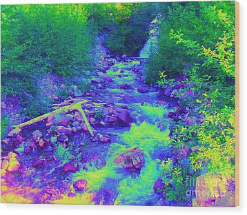 Wood Print featuring the photograph Ohanapecosh River by Ann Johndro-Collins