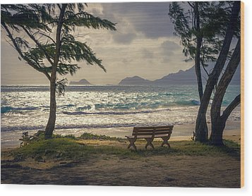 Wood Print featuring the photograph Oahu Sunrise by Steven Sparks