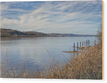 Ohio River Valley Wood Print