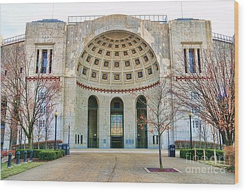 Ohio Stadium Main Entrance 1672 Wood Print