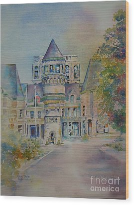 Ohio State Reformatory Wood Print by Mary Haley-Rocks