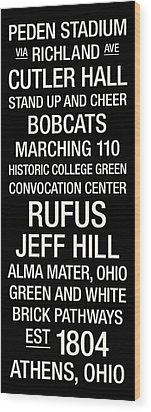 Ohio University College Town Wall Art Wood Print by Replay Photos