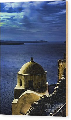 Oia Greece Wood Print