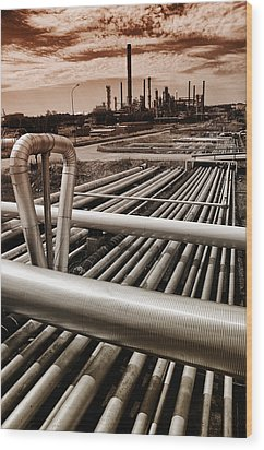 Oil And Gas Industry Wood Print