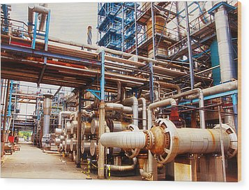 Oil And Gas Refinery Engineering And Technology Wood Print