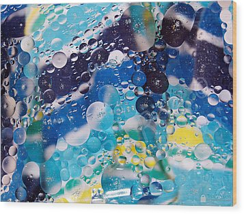 Oil And Water Wood Print