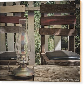 Wood Print featuring the digital art Oil Lamp 2 by Gandz Photography