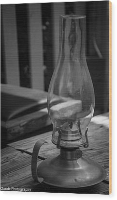 Wood Print featuring the digital art Oil Lamp by Gandz Photography