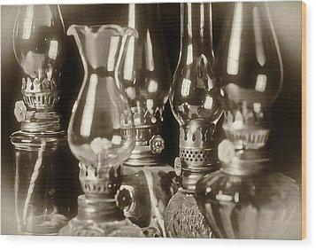 Oil Lamps Wood Print by Patrick M Lynch