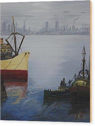 Oil Msc 025  Wood Print