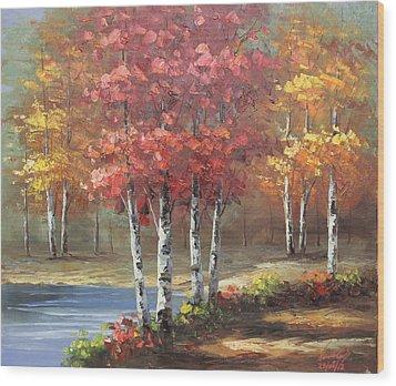 Oil Msc 049 Wood Print