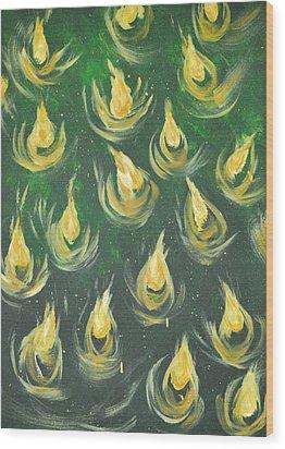 Oil Of Joy Wood Print by Denise Warsalla