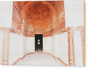Oil Painting - Doorway In Humayun Tomb Wood Print