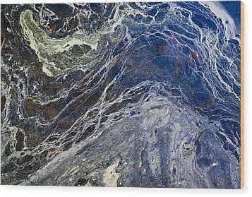 Oil Spill Abstract Wood Print by Dancasan Photography