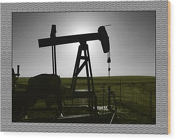 Oil Well Wood Print by Thomas Bomstad