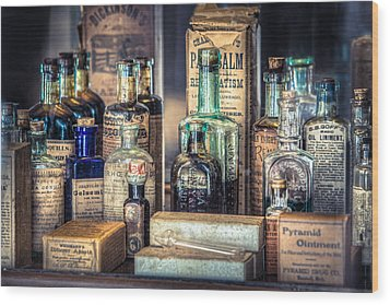 Ointments Tonics And Potions - A 19th Century Apothecary Wood Print