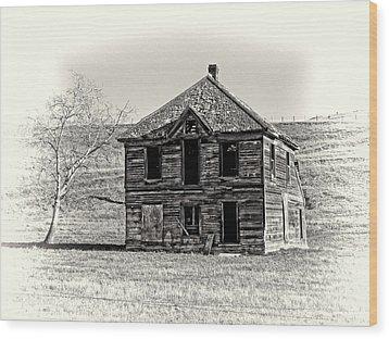 Okanogan Homestead - Washington Wood Print by Daniel Hagerman