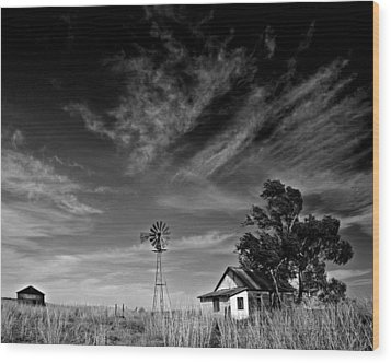 Wood Print featuring the photograph Oklahoma Farm by Christopher McKenzie