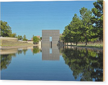 Oklahoma Reflections Wood Print by Paul Van Baardwijk
