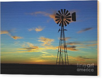 Oklahoma Skies 2 Wood Print by Jim McCain