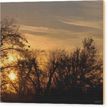 Oklahoma Sunset Wood Print by Jeffrey Kolker