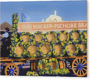 Wood Print featuring the painting Oktoberfest by Lynne Reichhart