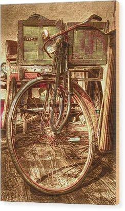 Ol' Rusty Antique Wood Print by Debra and Dave Vanderlaan